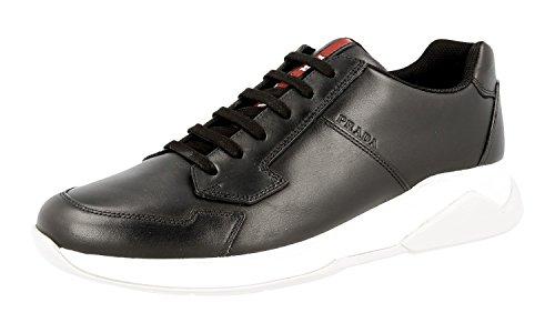 Prada Menns 4e2807 Skinn Sneaker