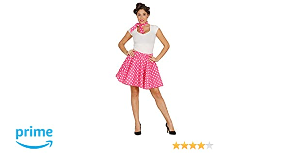 Guirca 84522 - Set Pin Up Rosa Adulta Talla L 42-44: Amazon.es ...