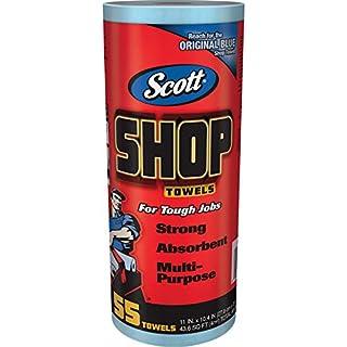 "Kimberly-Clark Professional Logistics Supply 75130KC Scott Shop Towels Blue 7/16"" X, 1 Roll, 55 Per Pack"