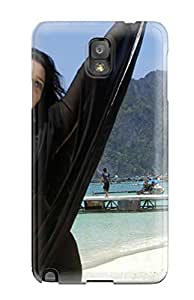 Excellent Design Tamanna Beautiful In Black Saree Case Cover For Galaxy Note 3 5499873K30735820