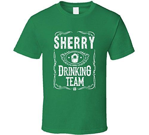 Sherry Irish Drinking Team Whiskey Beer Custom Name St Patricks Day T Shirt L Irish Green