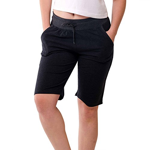Stylish Casual Womens Bermuda Shorts-Soft Stretch, Elastic Waist, - Girls Linen Shorts
