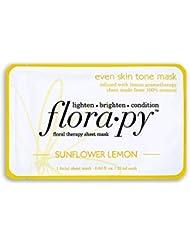 Florapy Beauty Even Skin Tone Sheet Aromatherapy Mask, Sunflower Lemon