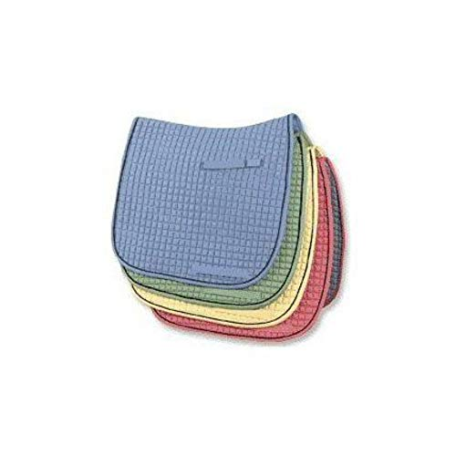 Pacific Rim PRI Dressage Cotton Quilted Saddle Pads (Navy/Mustard)