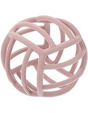 Kisangel 1pcs Baby Sensory Balls and Sensory Teether, Newborn Baby Sensory Gene Ball Toys Teether Toys Rattles Ball for Boys Girls Fine Motor Skill Development, Pink