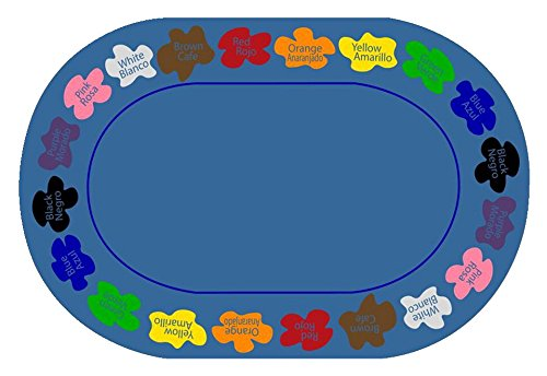 Childcraft Learn Your Colors Bilingual Carpet, 8 x 12 Feet, Oval