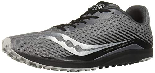 Saucony Men's Kilkenny XC 8 Flat Track Shoe, Black/Silver, 14 Medium US