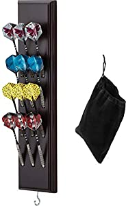 Viper Wall Mounted Dart Holder/Caddy Display, Holds 12 Steel/Soft Tip Darts