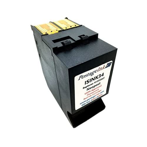 Neopost ISINK34 Surejet # 4135554T Red Ink Cartridge for IS330, IS350, IS420, IS440, IS460, IS480, IS490 Postage Meters
