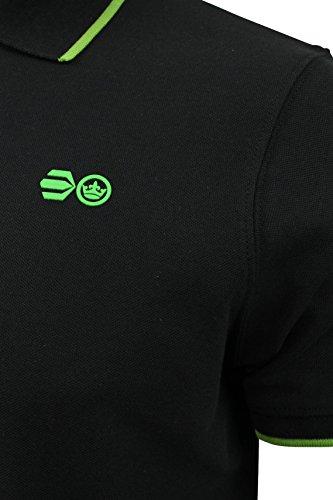 Crosshatch Herren-Poloshirt Kaneta, schwarz