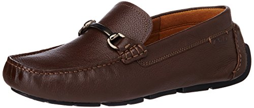 Clarks Men's Davont Ride Brown Tumb Leather Loafers and Mocassins