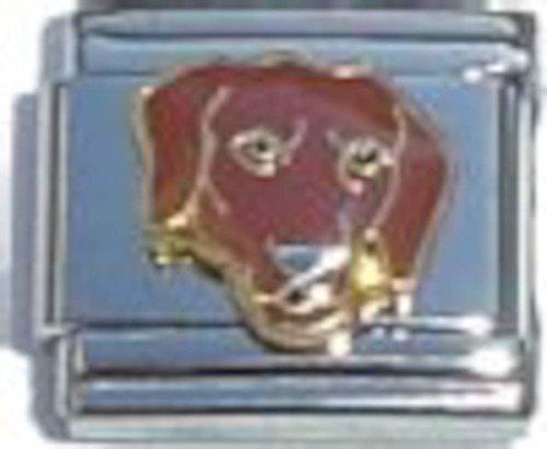 Chocolate Lab Dog Italian Charm