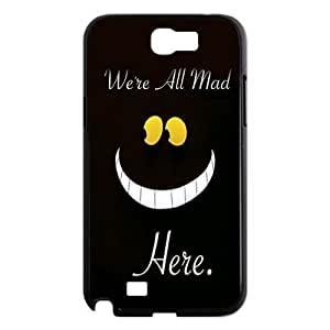 Alice in Wonderland We're all mad here Cheshire Cat Always Grin Especial Durable Hard Plastic Case Cover Fits Samsung Galaxy Note4 Design Yedda DIY