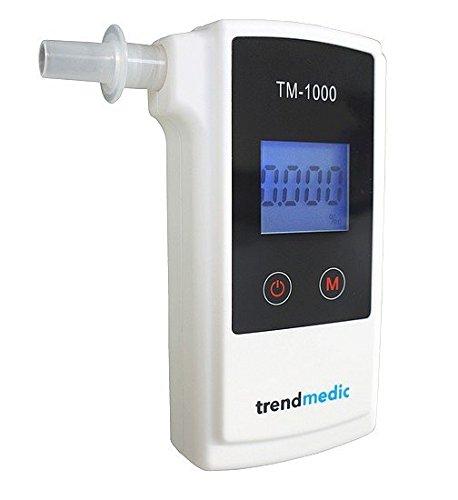Alkoholtester Trendmedic TM-1000 - Digitaler Atemalkohol-Tester mit elektrochemischen Sensor - polizeigenau - Anzeige in Promille