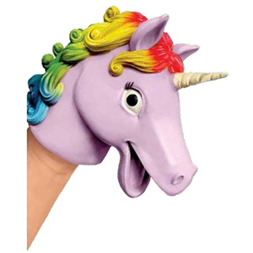 Unicorn Rubber Hand Puppet - Novelty Toy by Schylling - Schylling Puppets