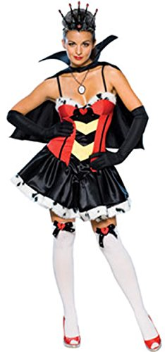 Secret Wishes Women's Queen Of Broken Hearts Sassy Adult Costume, Multicolor, Medium