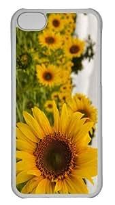 iPhone 5C Case Customized Unique Print Design Yellow Mellow Sunflower iPhone 5c Cases Transparent