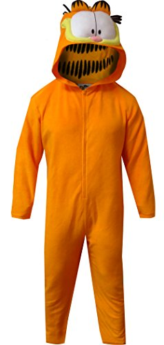 Briefly Stated Men's Garfield Hooded Union Suit, Dreamsicle, S