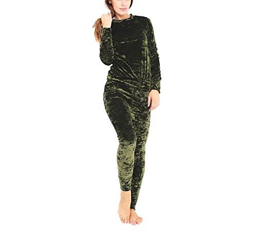 Aro Lora Women's Velour Velvet Jogger Lounge 2 Pieces Set...