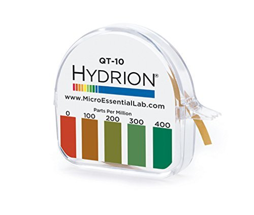 Hydrion QT-10 Papers Quaternary Ammonium Sanitizer Single...