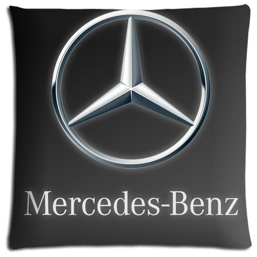 Car Pillow Cases Polyester / Cotton Benz Zippered Easy Cleaning Unique 16x16 inch 40x40 cm