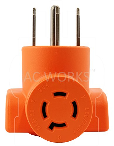 AC WORKS [AD1450L1420] Range/ RV/ Generator Outlet Adapter 4-Prong 14-50P Plug to 4-Prong 20Amp Locking L14-20R Adapter by AC WORKS (Image #3)
