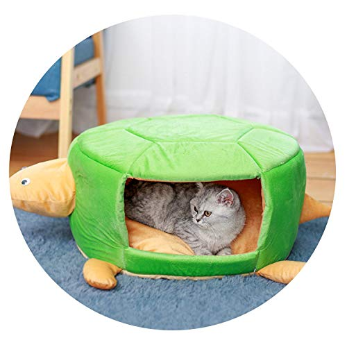 Dog House Turtle Pinik Green Cotton Breathable Convertible Two Usage Pink Warm Ger Cat Animal Bed Chihuahua Pug Dog Bed,Green,55x48x23cm