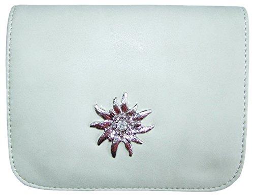 Trachtentasche mit Edelweiß Creme Weiß
