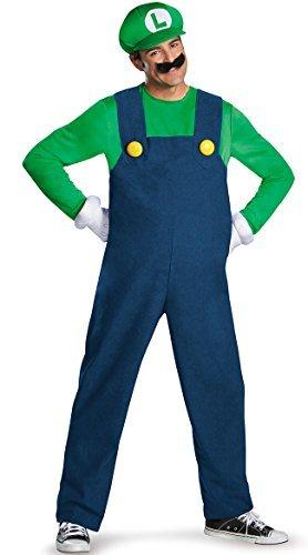 Super Luigi! Anta also Luigi Cosplay Costume T-shirt / pants / hat / beard from today (japan import) -