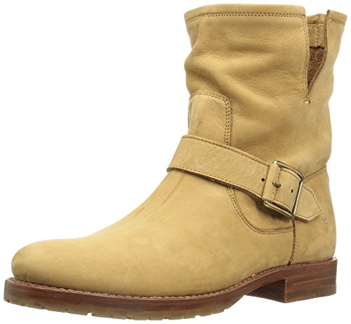 FRYE Women's Natalie Short Engineer Boot, Sand, 9.5 M US (Engineer Frye)