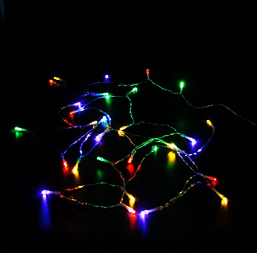 X-nego 3 Pack 30LEDs 9.3ft Battery Powered 4 Multi-Color LED String Lights 3-Mode LED Christmas Lights for Christmas/Wedding /Party -