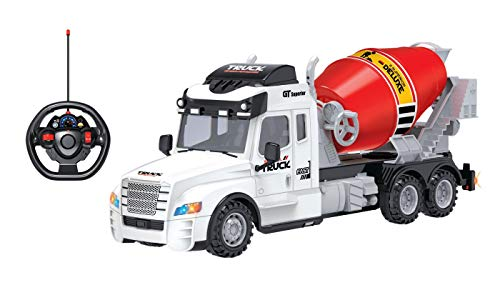 - Toy Chef Remote Control Truck RC Toy for Kids Aged 3+, Lights, , Realistic Excavator Truck Design, Full Range of Motion - Battery Operated, Strong and Safe ABS Plastic (Cement Mixer Truck)