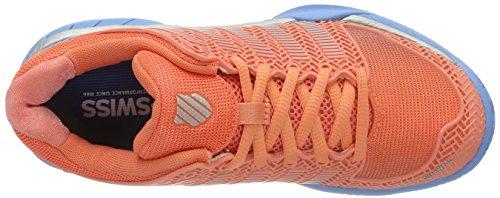 K-Swiss Performance 93378664M, Zapatillas De Tenis Mujer Naranja (Fusion Coral/bonnie Blue 664)