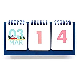 Jam Studio Dorandoran Count down 365 - Wirebound flip for both Perpetual desk calendar and D-Day desk calendar (Blue)