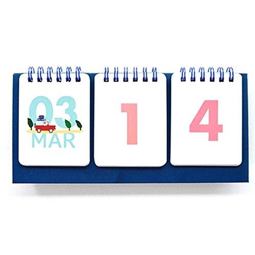 Jam Studio Dorandoran Count down 365 - Wirebound flip for both Perpetual desk calendar and D-Day desk calendar - In Odd Holidays March