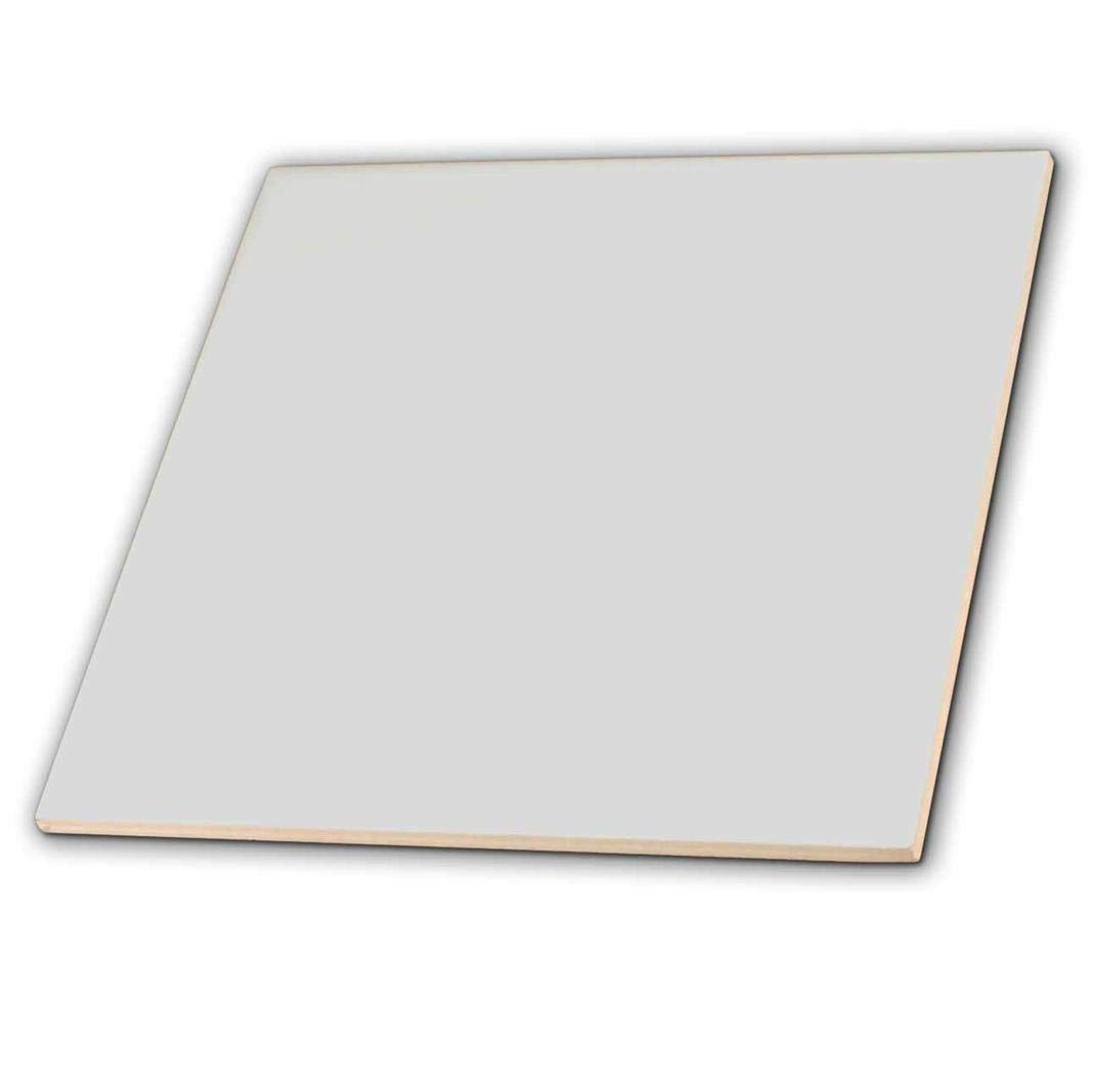 3dRose ct_159863_2 Light Gray Matte Silver Grey Plain Simple One Single Solid Color Modern Contemporary Ceramic Tile, 6'