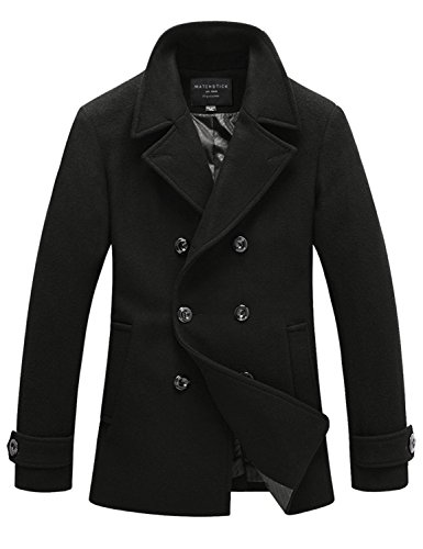 Match Mens Wool Classic Pea Coat Winter Coat (US L/CN 3XL (Fit 42 ...