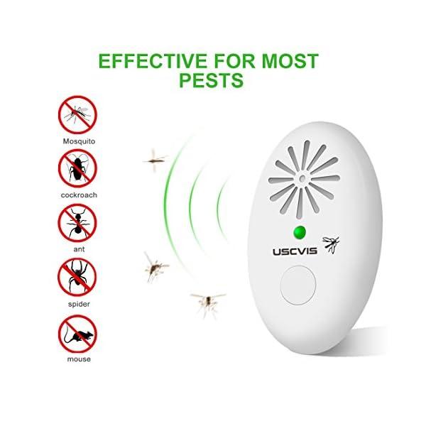 Repellente Ultrasuoni, Elettronico Mosquito Repellente Insetti Topi Ultrasuoni per Scarafaggi, Topo, Ragni, Roditore… 2 spesavip