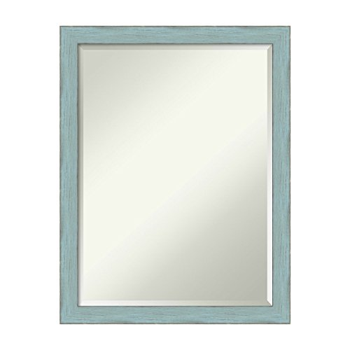 Amanti Art Sky Blue Rustic Wall Mirror Medium Large, Medium Large-21 x 27″ Review