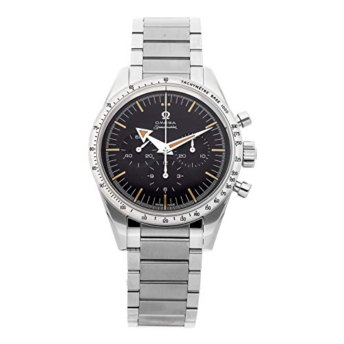 Omega Speedmaster 57 Chronograph The 1957 Trilogy SS Manual 38.6mm Black Dial Tachymetre Bezel SS Bracelet 311.10.39.30.01.001 (Certified Pre-Owned) (Chronograph Gents Watch Tachymeter)