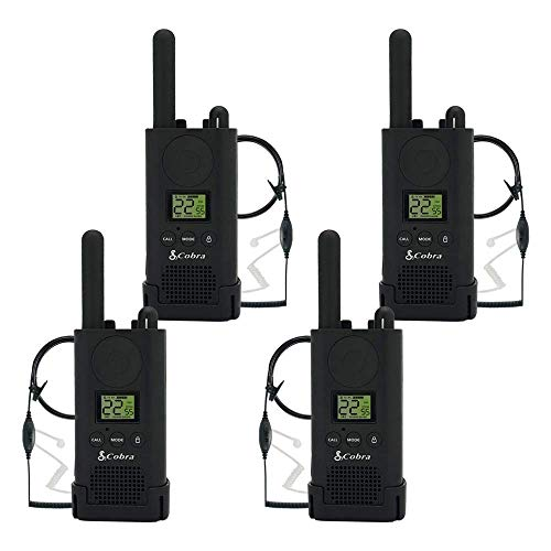(Cobra PX500 Walkie Talkies Pro Business Two-Way Radios (Four Pack, Bundled with Four GA-SV01 Headsets))