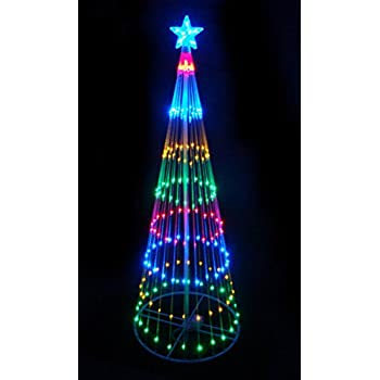 Amazon 9 lighted outdoor christmas show cone tree yard art lb international 3584 4 multi color led show cone christmas tree lighted yard art mozeypictures Images