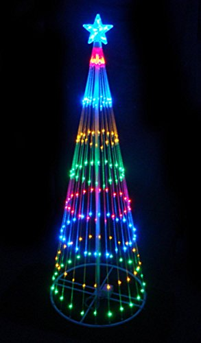 LB International 3584 4' Multi-Color LED Show Cone Christmas Tree Lighted Yard Art Decoration