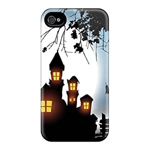 Fashionable Style Cases Covers Skin For Iphone 4/4s- Pumpkin Monster House