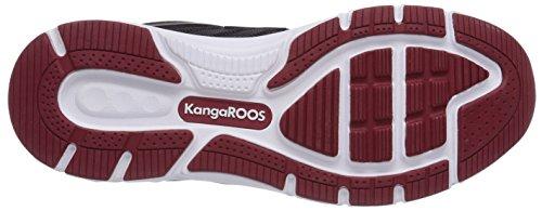 KangaROOS K-Tech 8007 - zapatilla deportiva de material sintético unisex Schwarz (black/dk red 506)