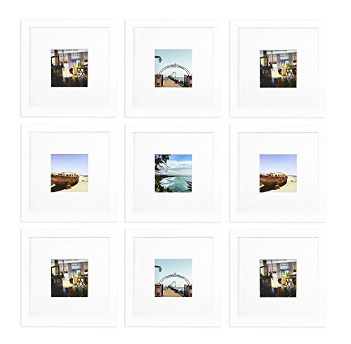 9 Photo White Frame - 5