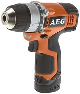 AEG BS 12 C – IQ - Taladro (Ión de litio, 12V, 30 min, 16,1 cm, 1,1 kg, Negro, Naranja)