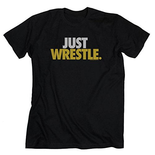 Just Wrestle T-Shirt | Wrestling Tees by ChalkTalk SPORTS | Black | Youth - Connecticut Mall In
