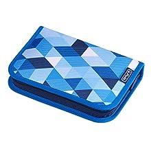 Herlitz Triple Etui Estuches, 20 cm, Azul (Blau)