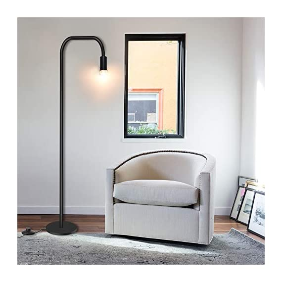 Addlon Floor Lamp with  E26 Socket - Tall Lamp for Living Room & Office - ✅【SATISFACTION WARRANTY】 3-year warranty !Your satisfaction is first. If you are not fully satisfied for any reason, please contact us. ✅【STURDY AND SAFE USE】: The well weighted, high-stability base prevent being tipped over by anyone includes the aged, child, pets. ✅【Creat Your Own Style】The Industrial floor lamp built-in e26 socket allows you to customize your stylish lamps with different shapes of light bulbs.(Bulbs are sold separately) - living-room-decor, living-room, floor-lamps - 41aoDlX qoL. SS570  -